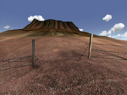 Cleft Volcano Fence